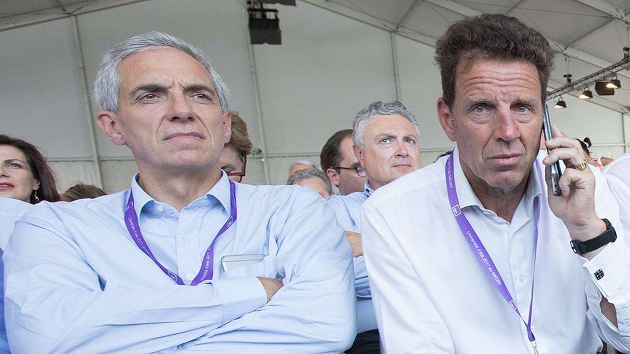 Alexandre Saubot a appelé Geoffroy Roux de Bezieux à renoncer à sa candidature à la présidence du Medef pour le rejoindre.