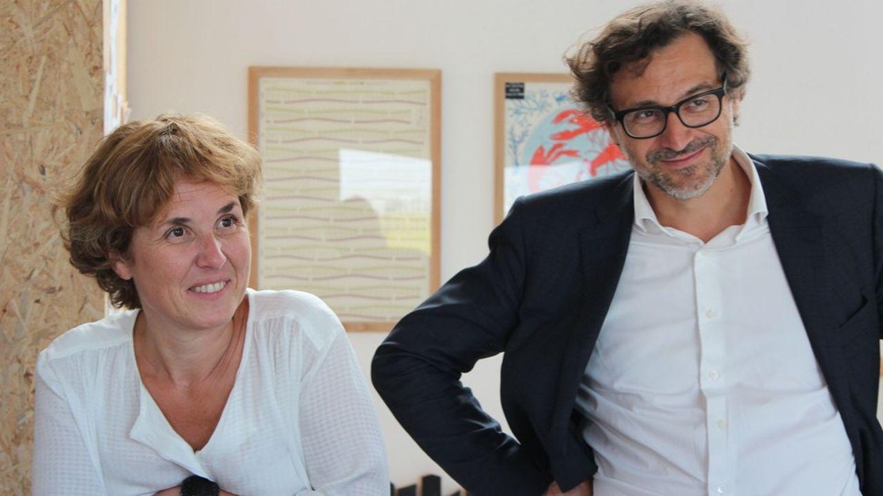 Anne Laurence, directrice du développement durable, et Emery Jacquillat, président de la Camif.