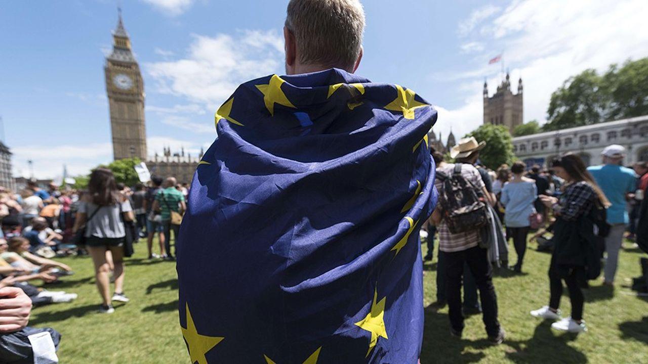 Des pro-européens, en juillet2016, protestent à Londres contre le Brexit.