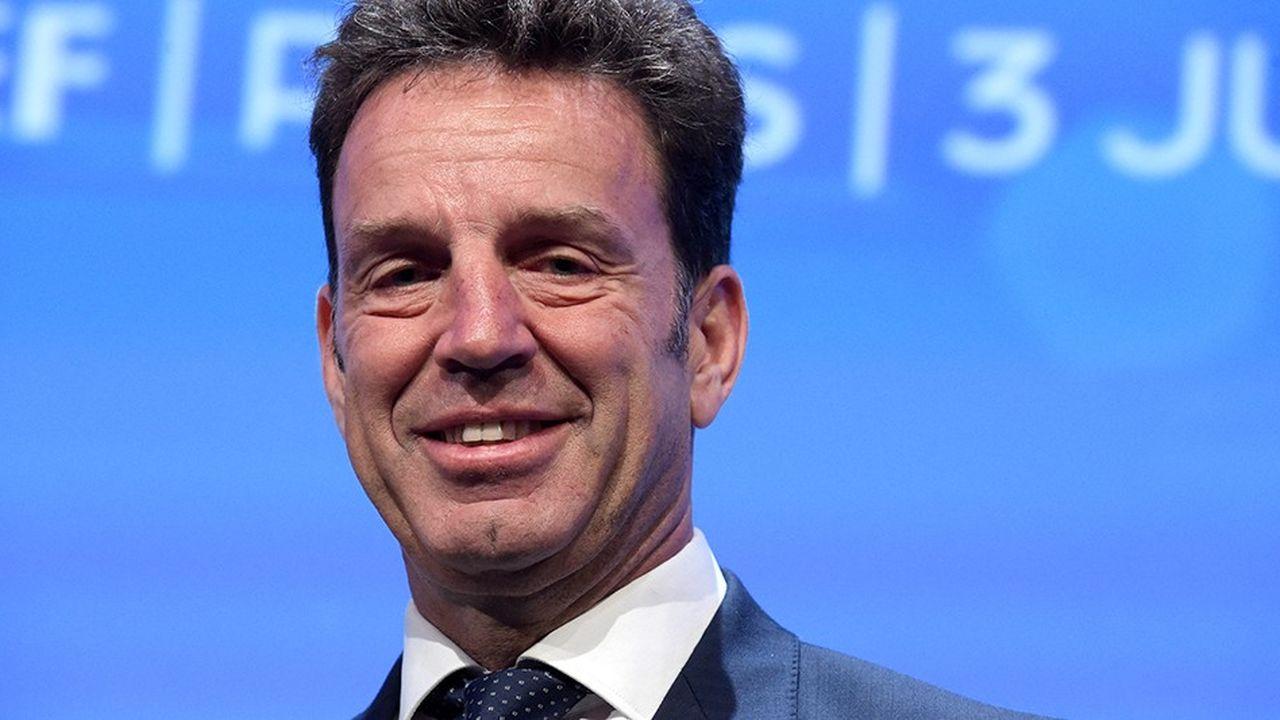 Geoffroy Roux de Bézieux a été élu, mardi 3juillet, président du Medef avec 55,8% des voix.