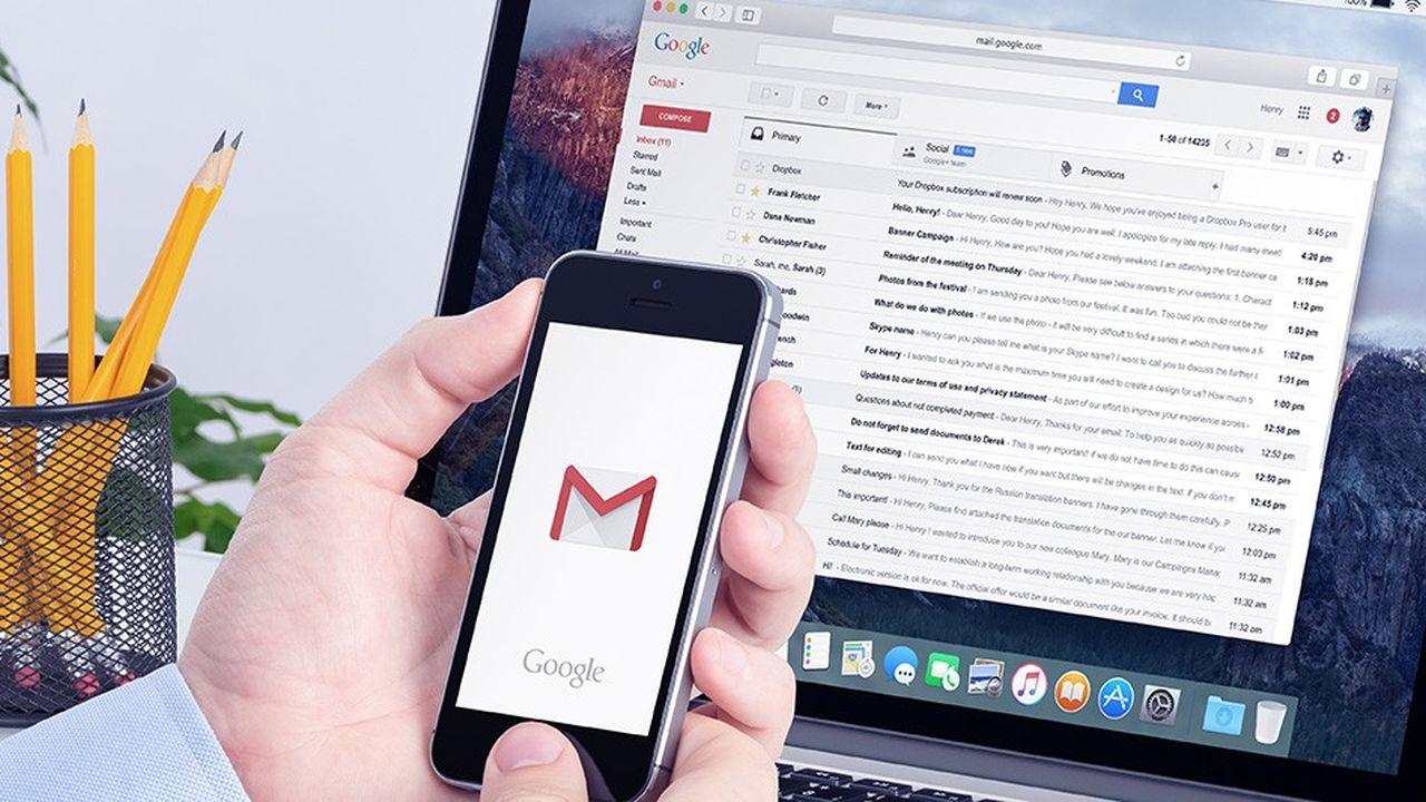 Les développeurs d'application ont accès à l'intégralité du contenu des mails ainsi qu'aux noms des destinataires.