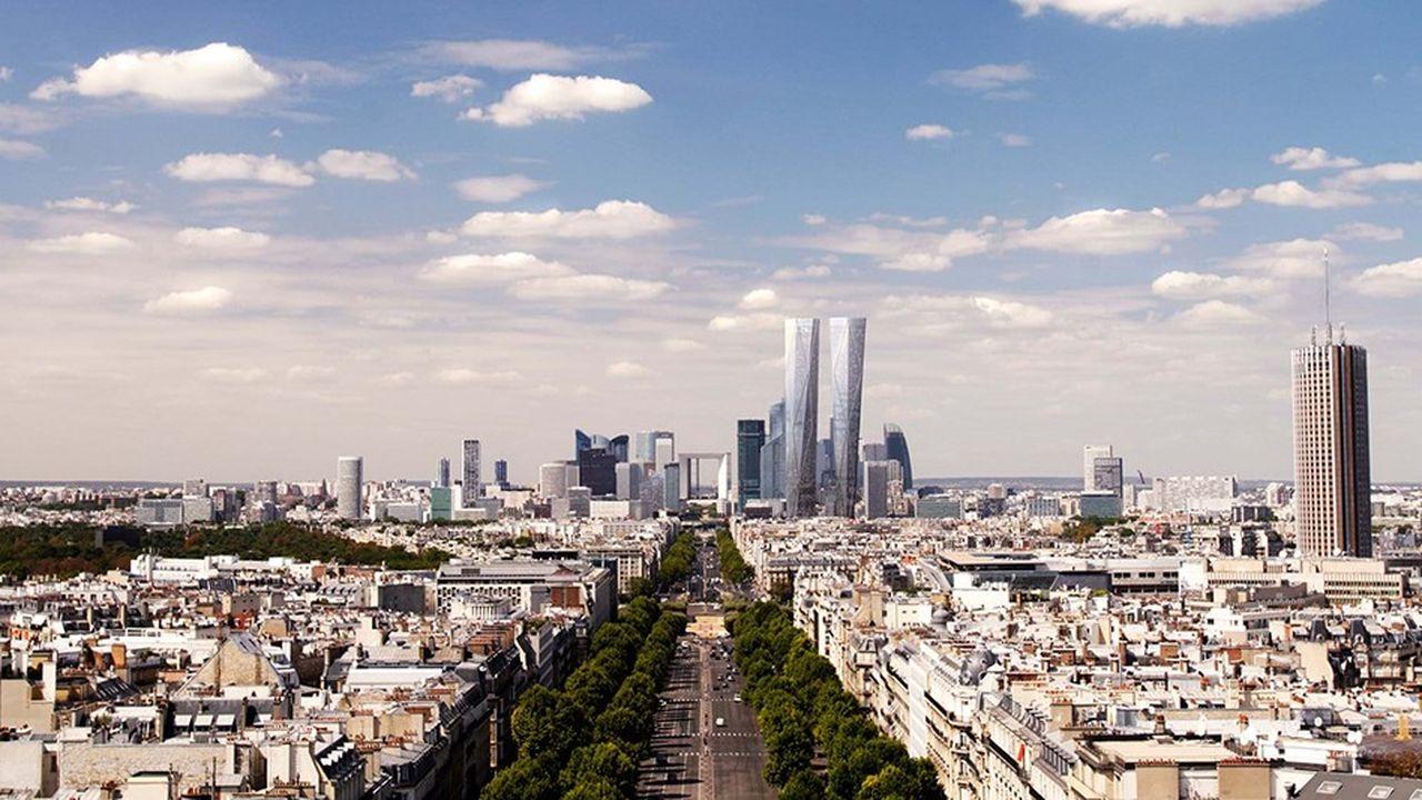 La double tour Hermitage et sera la plus haute d'Europe (2 x 320 mètres).