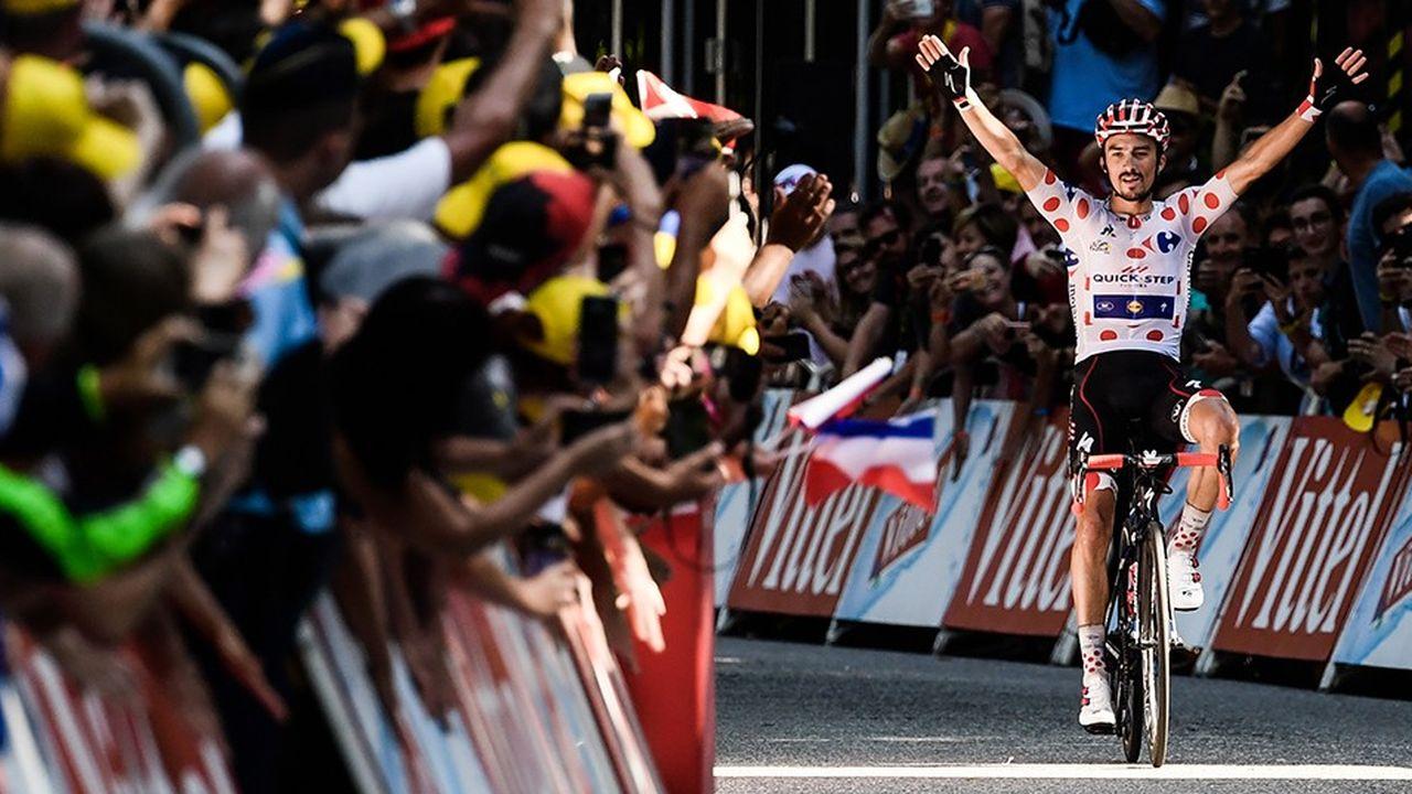 La victoire de Julian Alaphilippe à Bagnères-de-Luchon a été une des étapes les plus suivies.