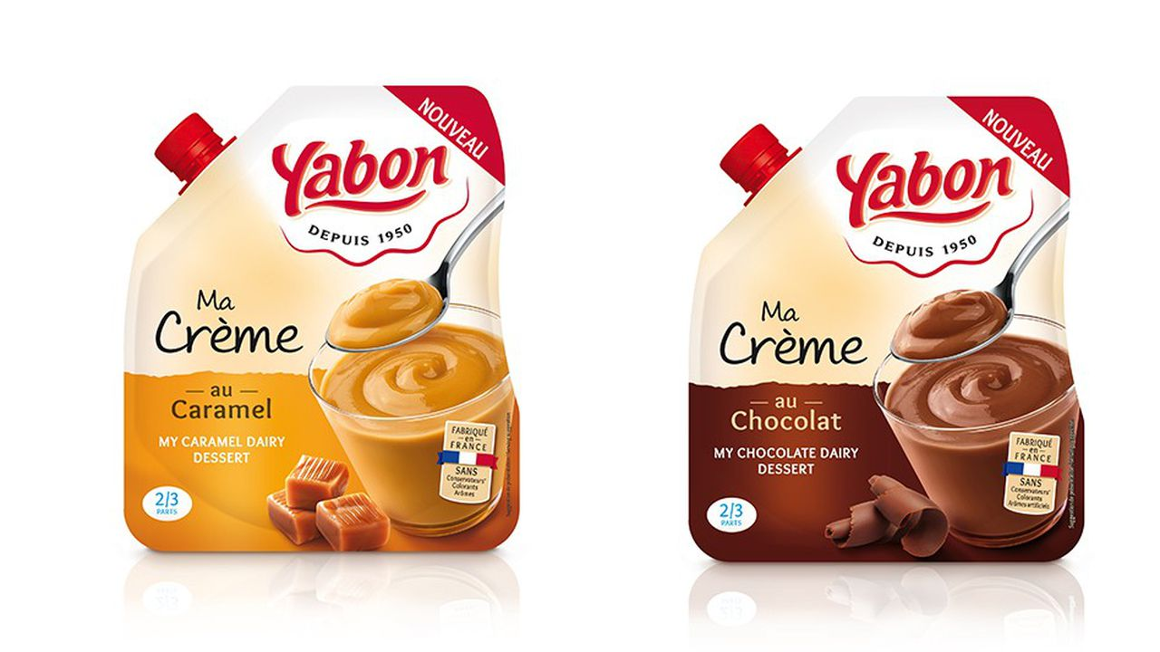 Le nouvel emballage va remplacer les crèmes dessert.