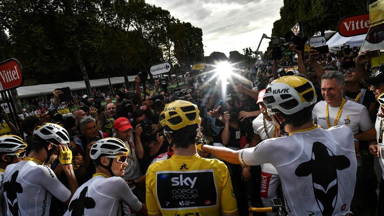 Geraint Thomas a remporté son premier tour de France cette année. Une habitude pour son équipe.