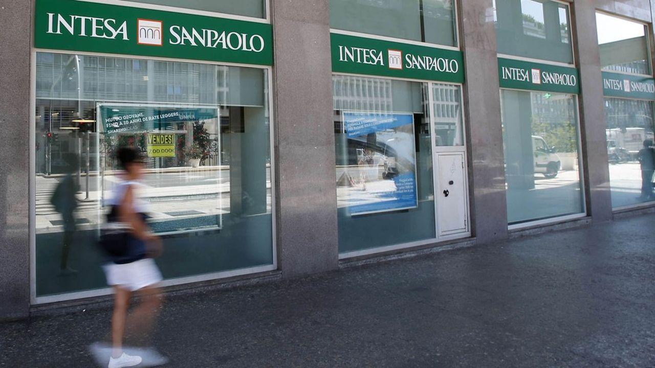 La première banque italienne a dégagé2,17milliards d'euros de bénéfices au premier semestre.
