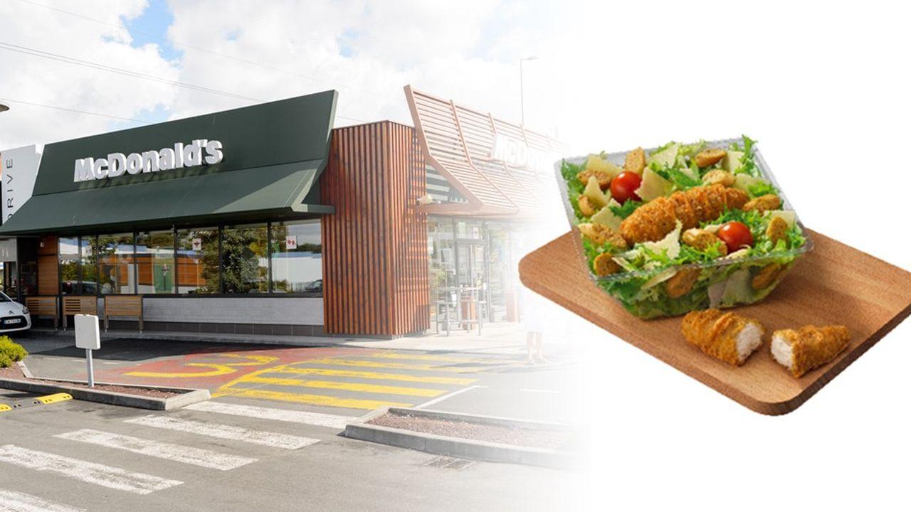 McDonald's a indiqué avoir décelé la Listeria dans un de ses lots de salades Caesar
