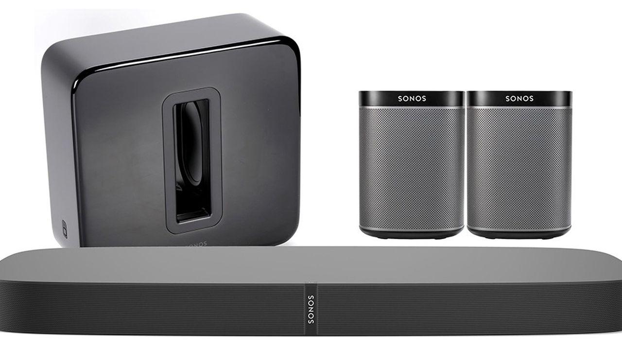 Sonos s'est spécialisé dans les enceintes sans fil en Wi-Fi.