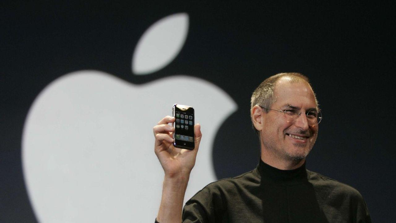 Steve Jobs présente l'Iphone à la MacWorld Conference & Expo à San Francisco