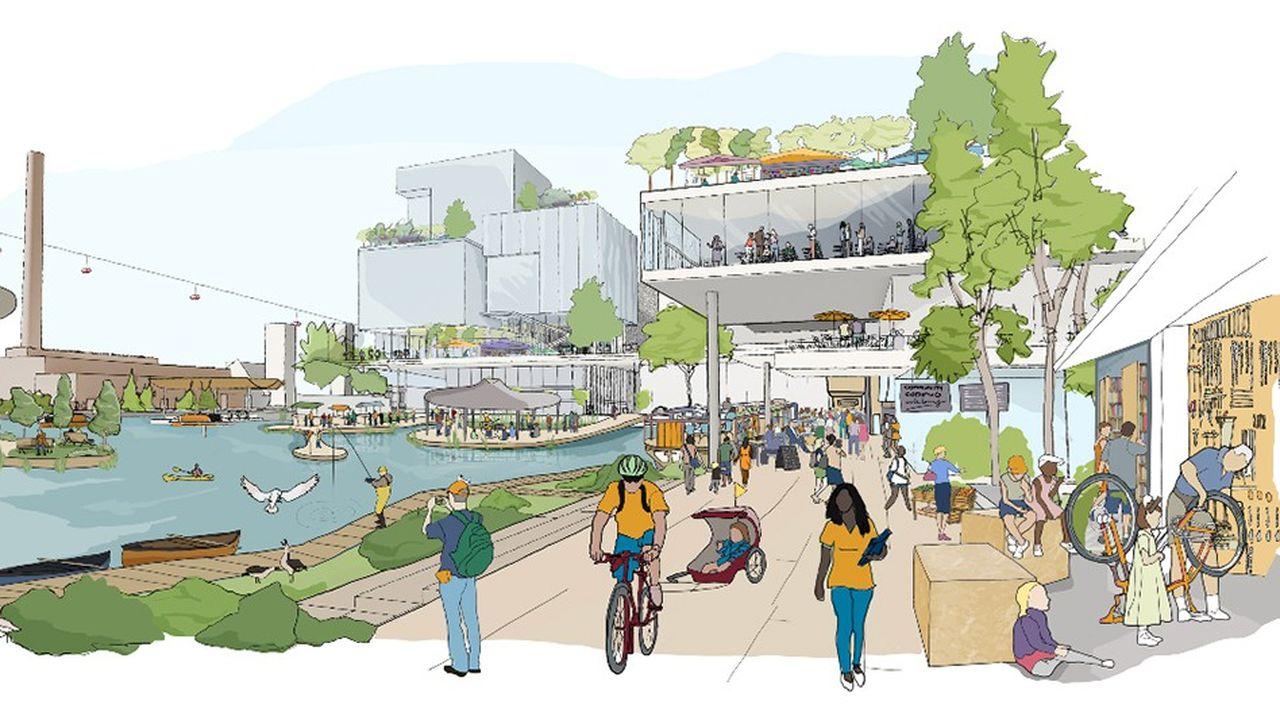 Le projet transformera Quayside, un ancien site industriel de 5 hectares à l'est de Toronto, en ville du futur et devrait coûter plus d'un milliard de dollars.