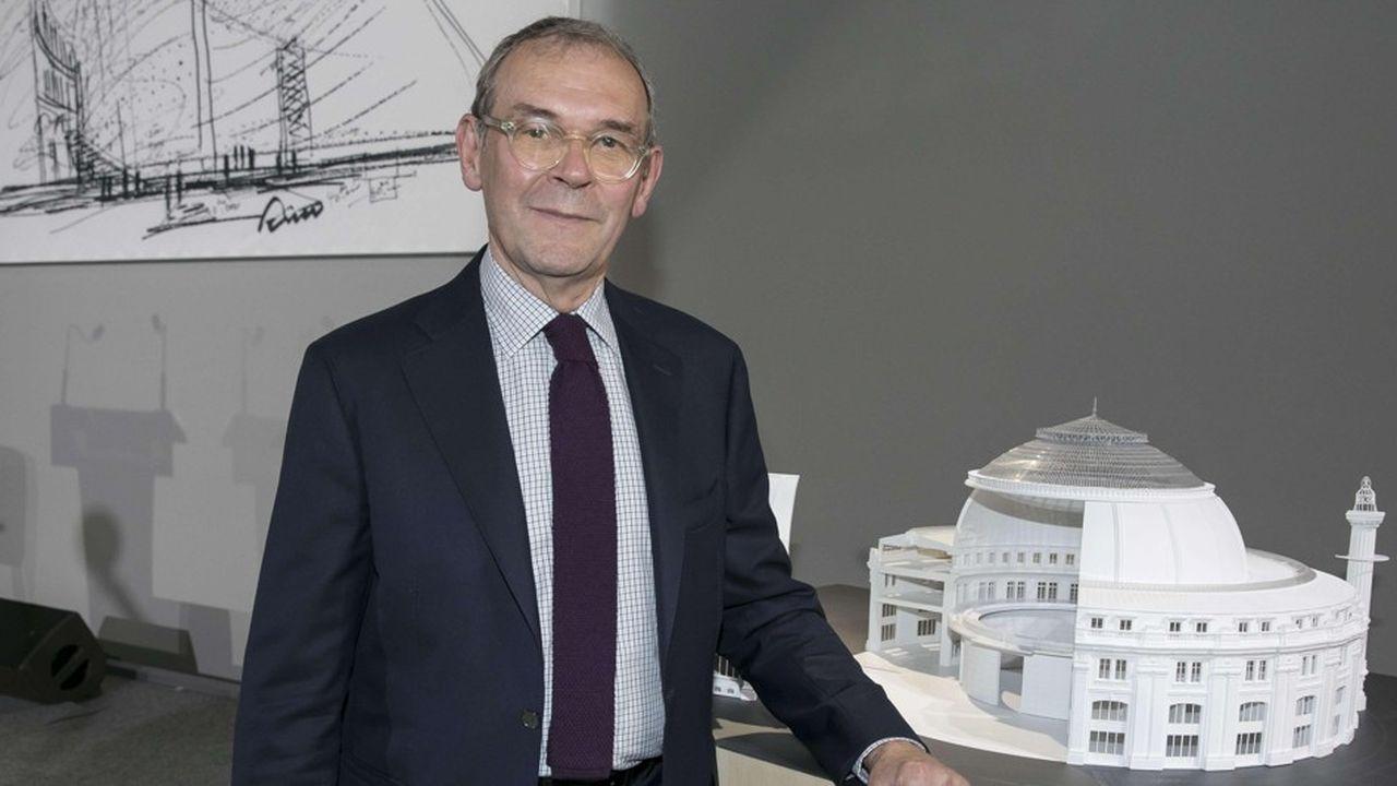 L'ancien ministre de la culture et père de la loi mécénat de 2003, Jean-Jacques Aillagon, aujourd'hui conseiller de François Pinault pour le futur lieu d'exposition de sa collection à la Bourse de Commerce de Paris.