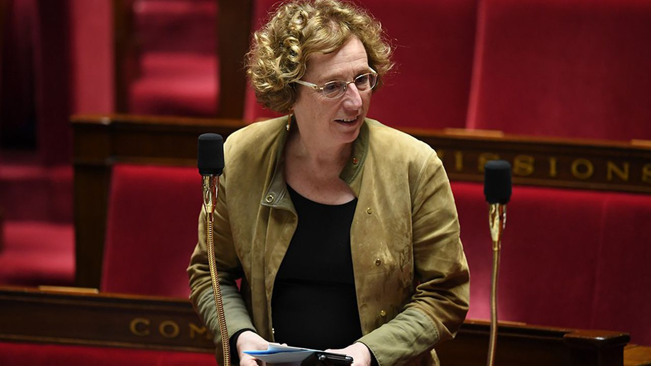 La ministre du travail, Muriel Pénicaud, dans l'hémicycle de l'Assemblée nationale.