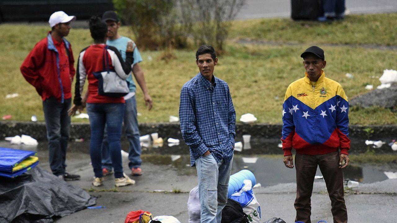 Les migrants Vénézuéliens doivent traverser la Colombie (comme ici à Cali) avant de rejoindre l'Equateur.