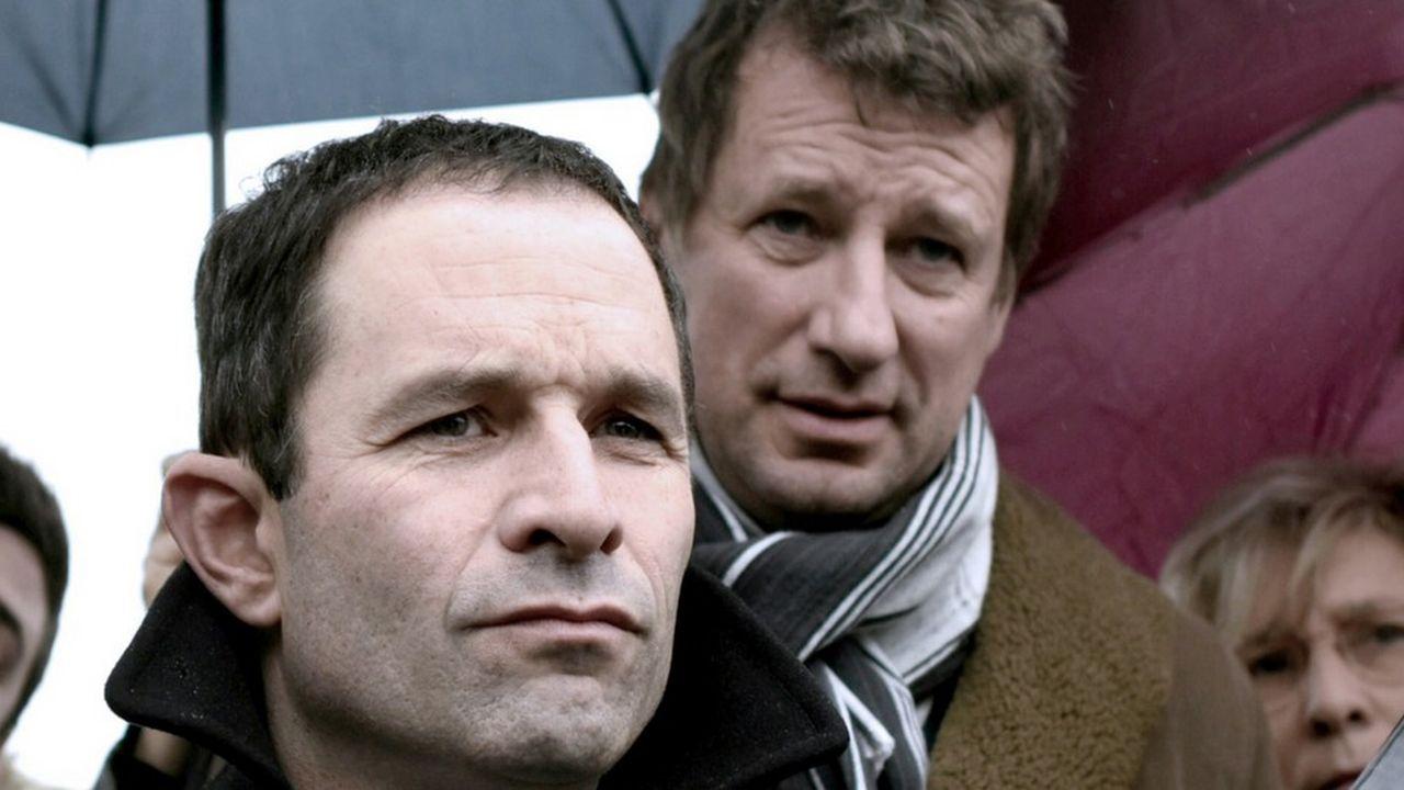 Yannick Jadot (à droite) avait fait alliance avec Benoît Hamon pendant la présidentielle 2017.