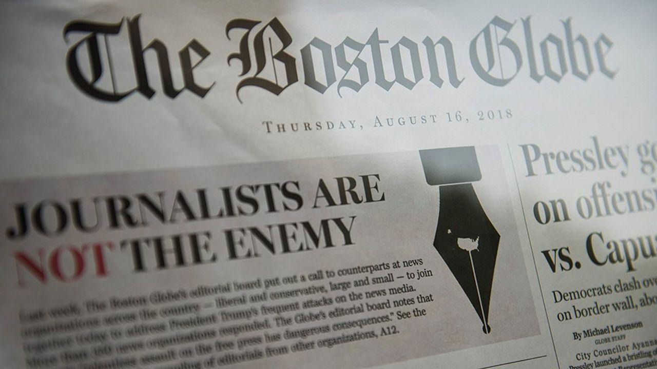 La semaine dernière, des centaines de publications américaines ont relayé l'initiative du «Boston Globe», intitulée «Les journalistes ne sont pas l'ennemi».