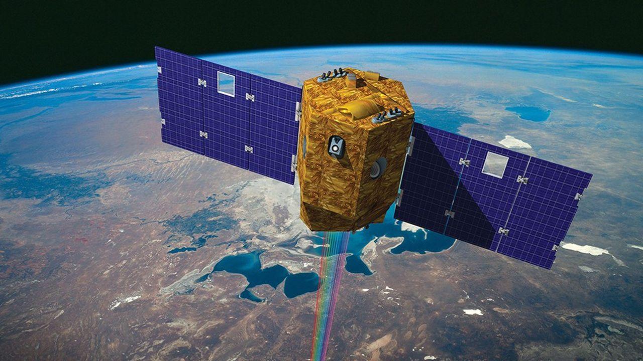 Vision artistique du satellite d'observation terrestre Venus