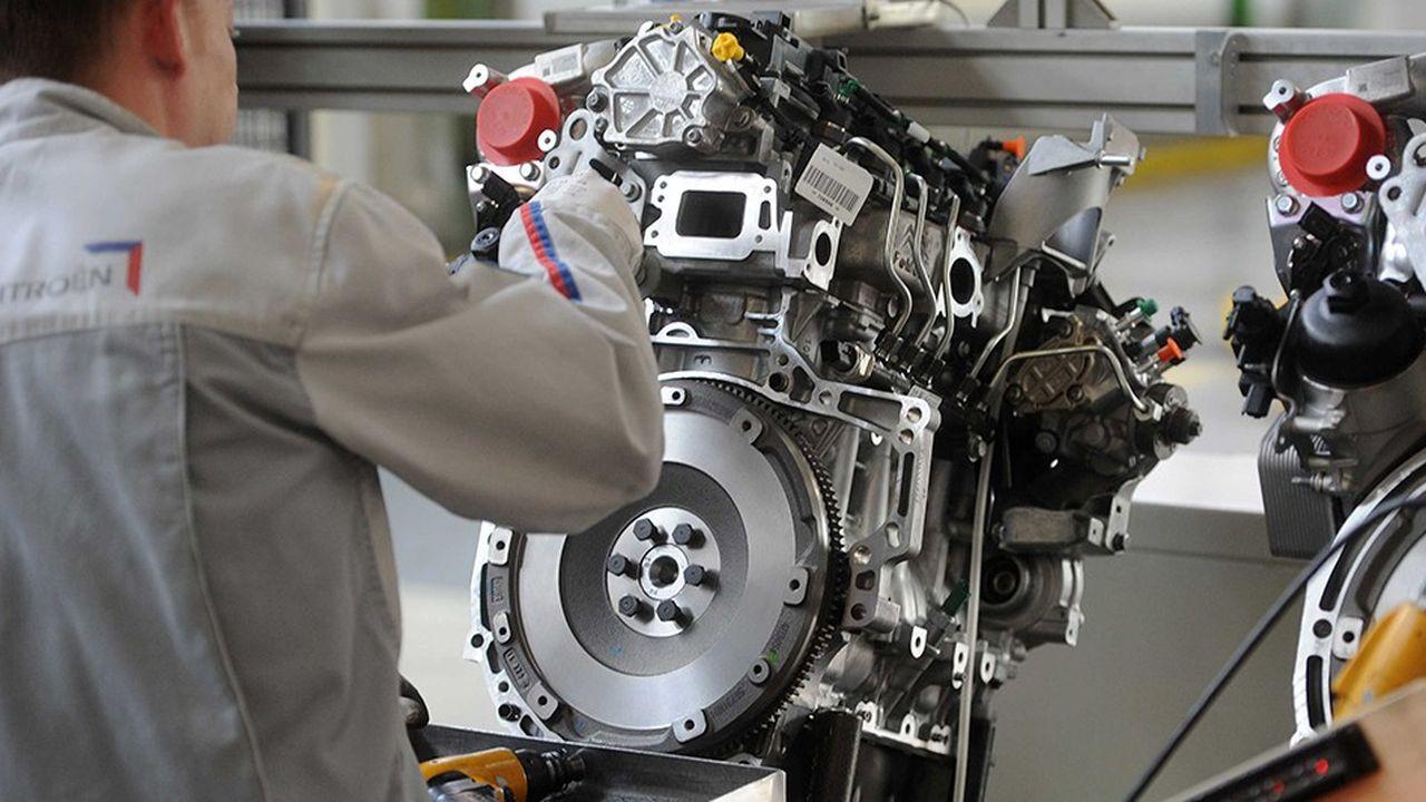 PSA Peugeot Citroen, site de Tremery en Moselle. Chaine de montage des moteurs diesel DV6 1,6L 90 ou 110CV du groupe PSA peugeot Citroen en Moselle. Tremery, FRANCE -04/04/2011./Credit: POL EMILE/SIPA/1104061552