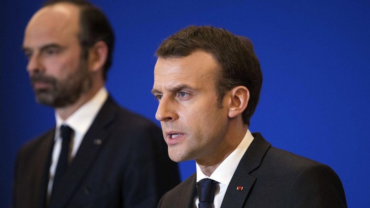 Emmanuel Macron et Edouard Philippe en mars2018.