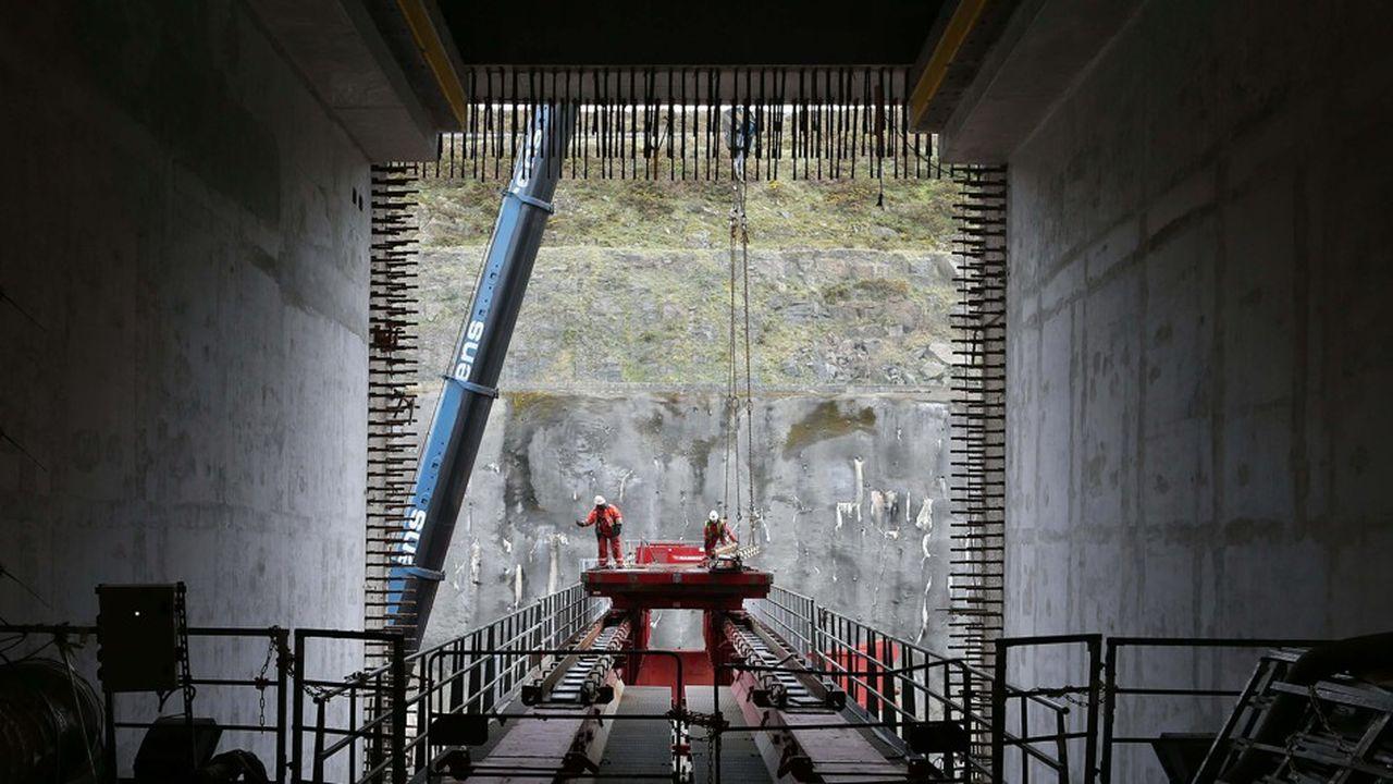 L'EPR en construction à Flamanville (Manche), en 2016.