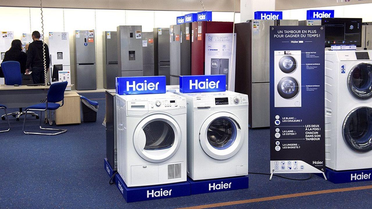 Haier détient 14,2% du marché mondial de l'électroménagerselon «Euromonitor», devant LG, Samsung et Whirlpool.