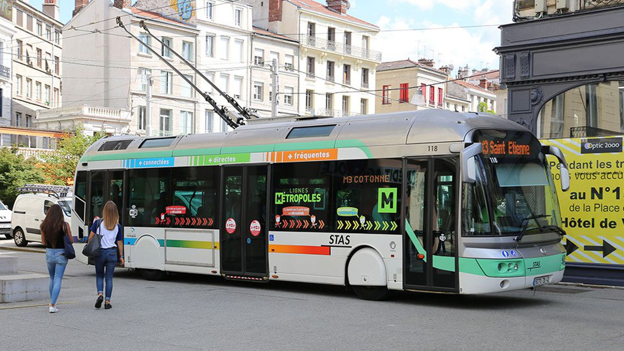Saint-Etienne va s'équiper d'ici à la fin 2019 de trolleybus 2.0.