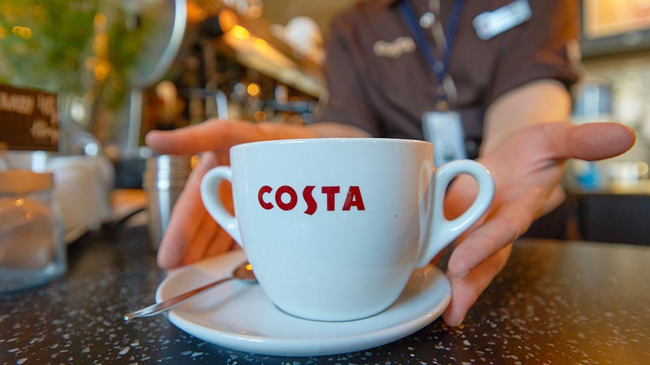 Les cafés Costa passent sous le contrôle de Coca-Cola.