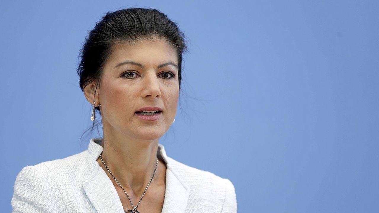 Sahra Wagenknechtlors de la conférence de presse où elle a présenté son nouveau mouvement politique à Berlin, le 4septembre 2018.