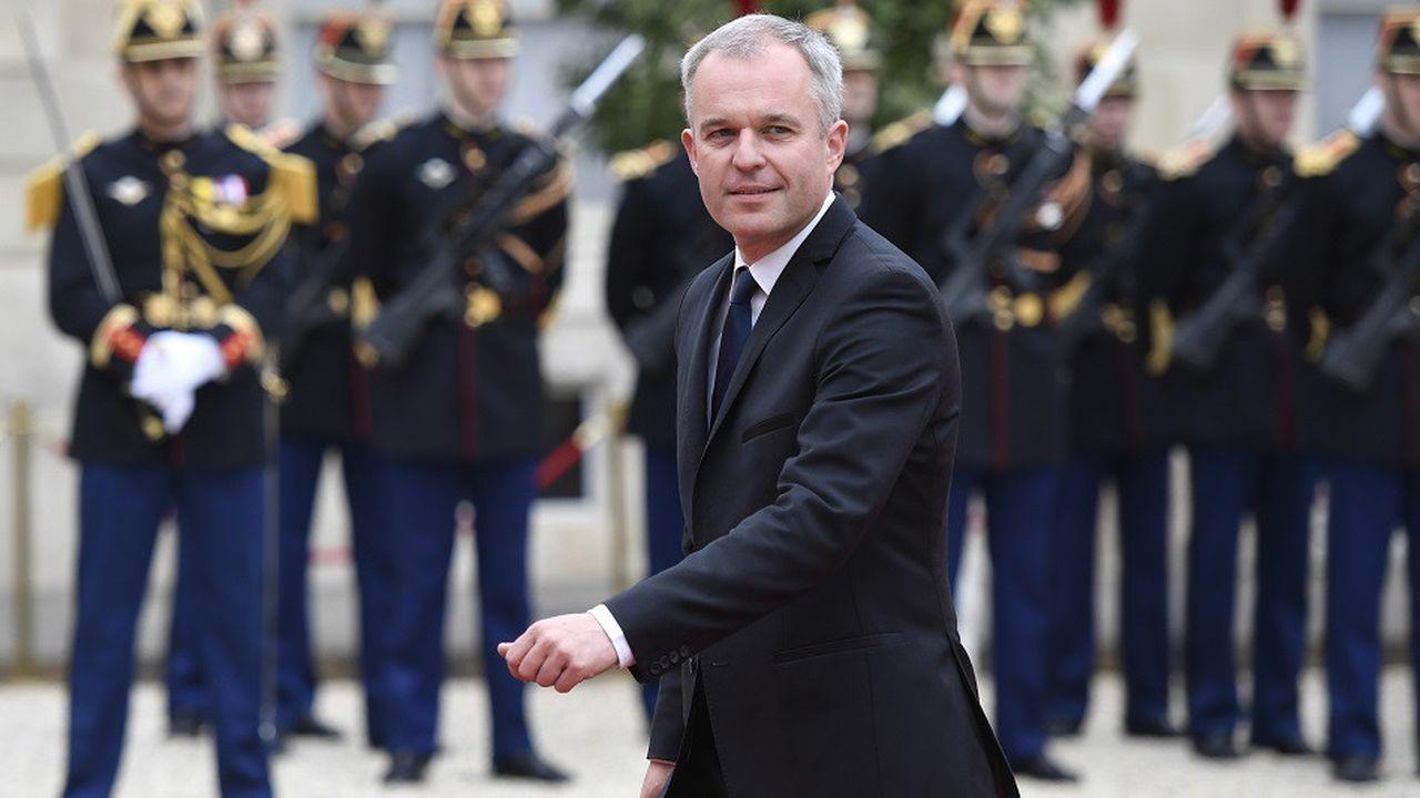 François de Rugy dans la cour de l'Elysée, le 14mai 2017.