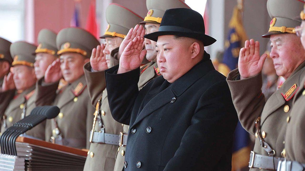 Un défilé militaire à Pyongyangen février2018.