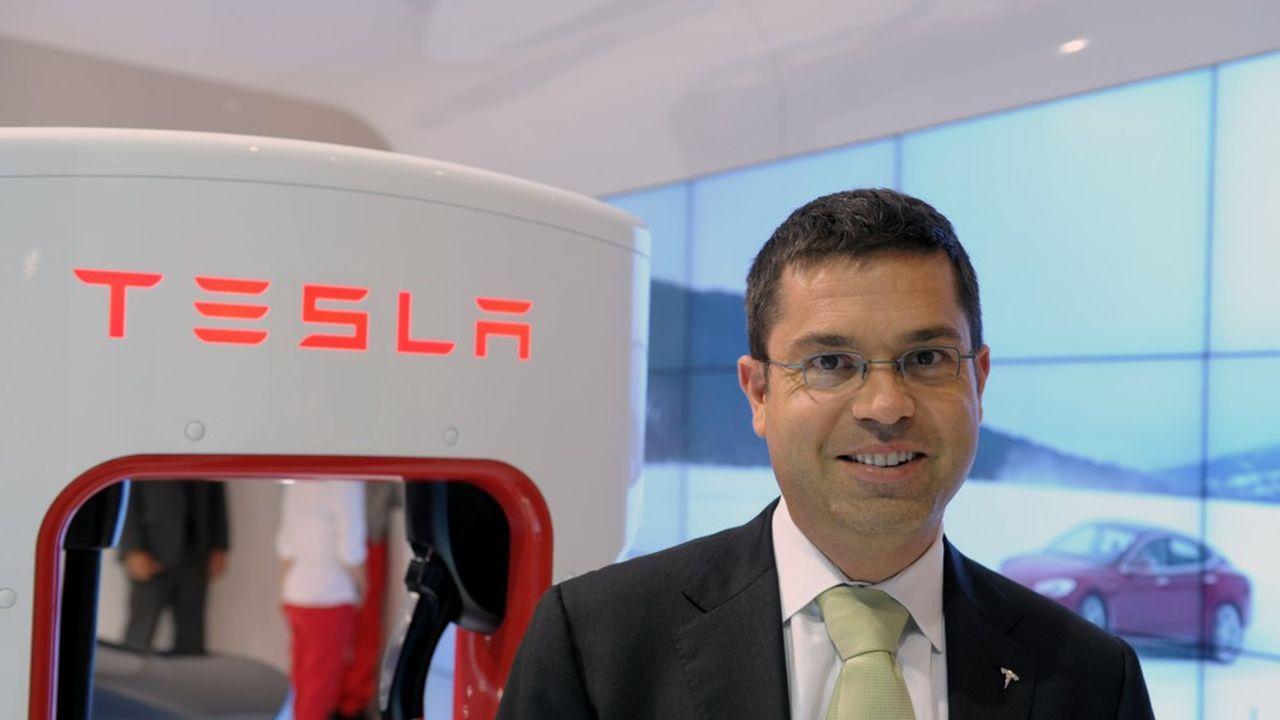 Jérôme Guillen (ici photographié en octobre2014), l'homme qui connaît tout du futur industriel de Tesla, devient le bras droit d'Elon Musk.