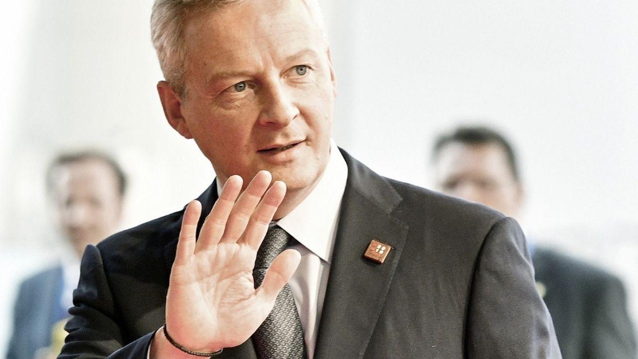 En déplacement à Vienne pour une réunion de l'Eurogroup, Bruno Le Maire a réitéré la volonté de la France de mettre en place la taxe Gafa.