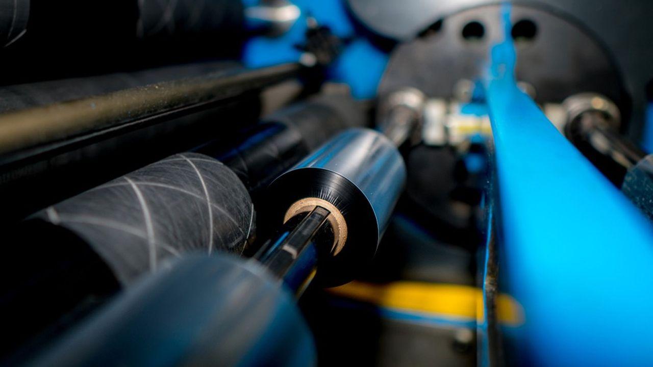 Le transfert thermique met en oeuvre des rouleaux encrés pour imprimer les étiquettes code-barres ou les indications variables sur les emballages souples. Cette technologie est en croissance de 4 à 5 % dans le monde.
