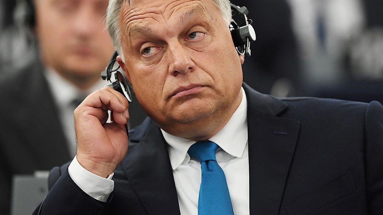 Le Premier ministre hongrois Viktor Orbanlors d'un débat sur la situation hongroise au Parlement européen le 11septembre 2018 à Strasbourg.