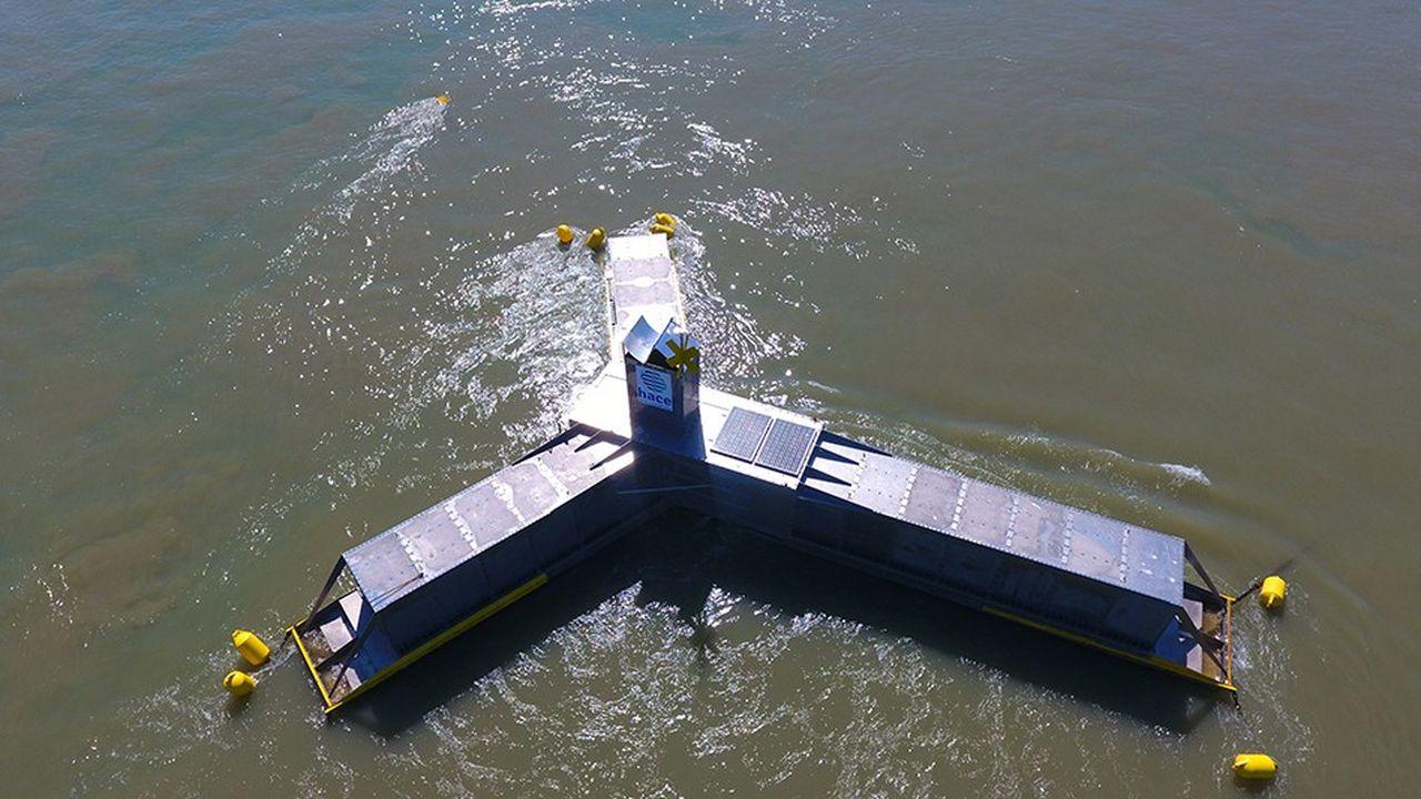 D'une vingtaine de mètres de large et d'une puissance de 50kW, leprototype de Hace va être testé en conditions réelles pendant plusieurs mois.