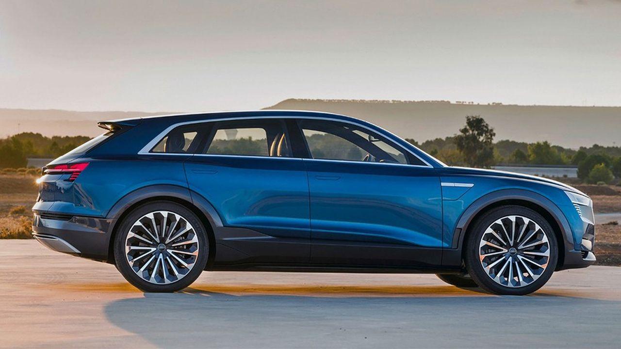 L'Audi E-tronsera commercialisée pour 80.000euros en Europe d'ici à fin 2018.