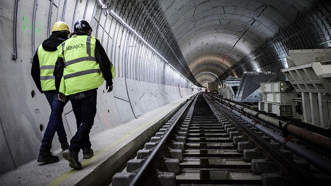 En janvier dernier sur le chantier du prolongement de la ligne 12 du métro.