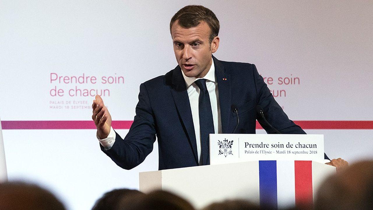 Avec le plan santé, Emmanuel Macron veut s'inscrire dans le temps long.