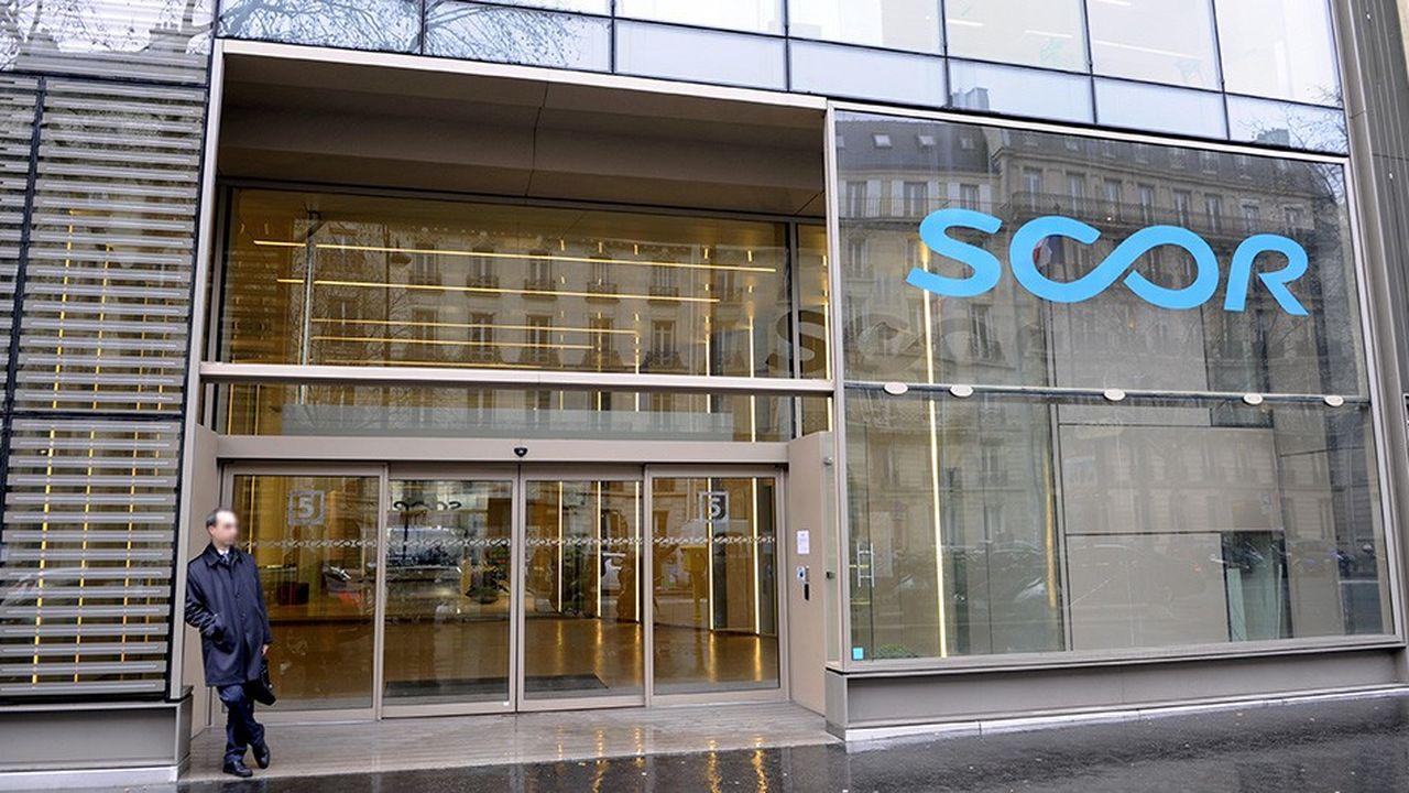 Le siege social de SCOR, avenue Kleber, à Paris.
