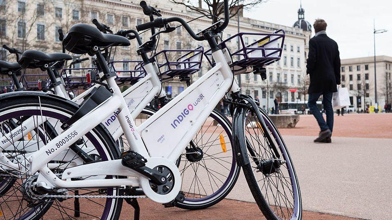 Indigo Weel est présent dans sept agglomérations avec ses vélos en free floating (comme ici à Bordeaux sur la photo)