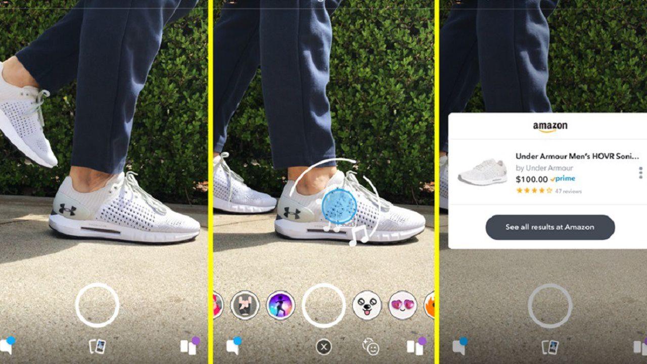 La fonctionnalité 'Visual Search' permet de chercher sur Amazon un produit pris en photo.
