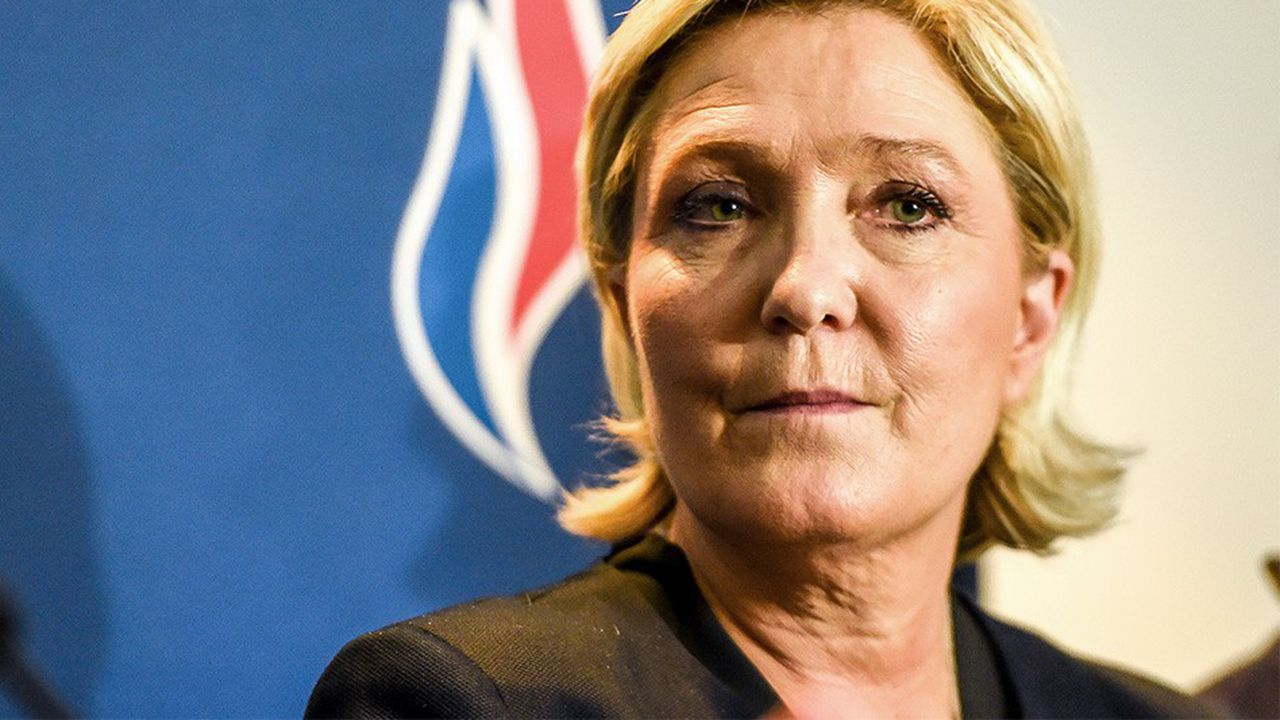Marine Le Pen, la présidente du Rassemblement national (RN, ex-Front national).