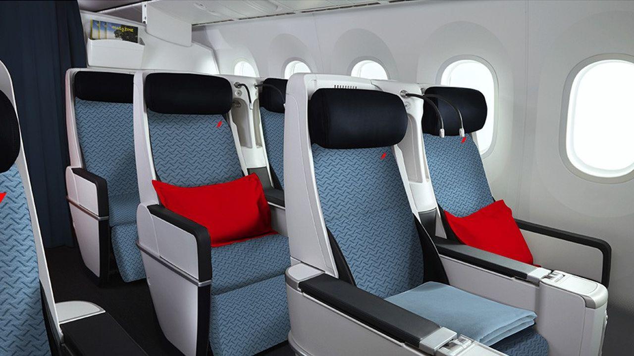 Air France a dévoilé mercredi ses nouvelles cabines Economy et Premium Economy