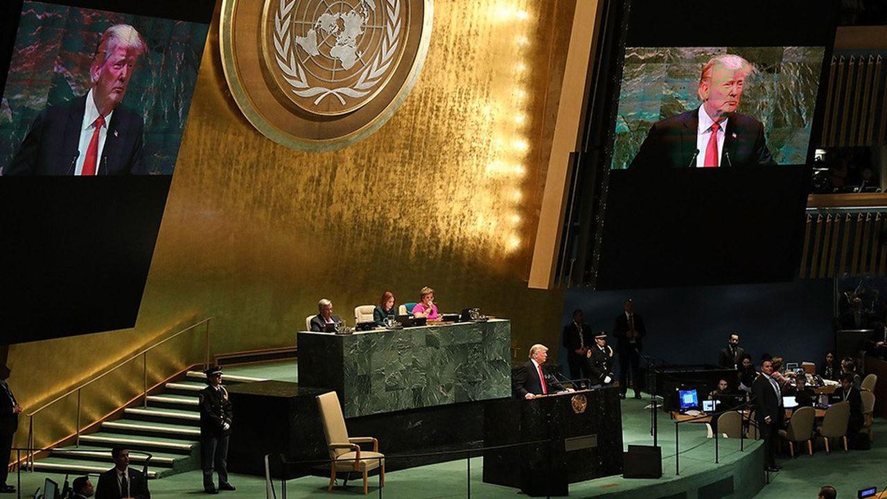 Trump lors de l'assemblée générale de l'ONU.