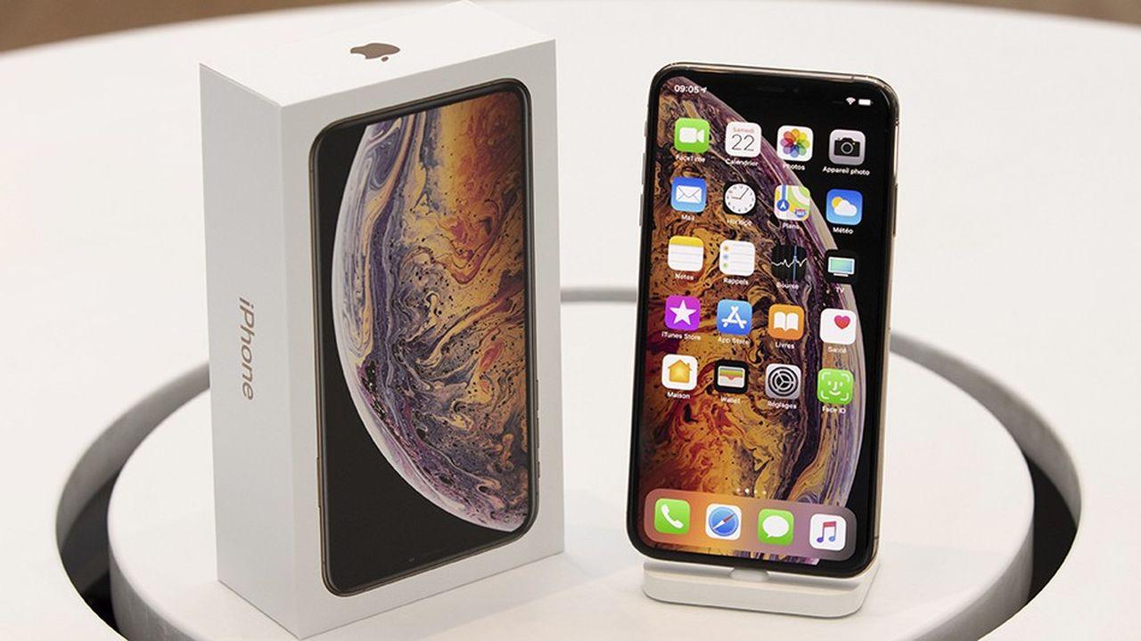 L'iPhone XS Max, dernier smartphone présenté par Apple, est vendu 1.099 et 1.449dollarsaux Etats-Unis, selon la capacité de stockage des modèles.