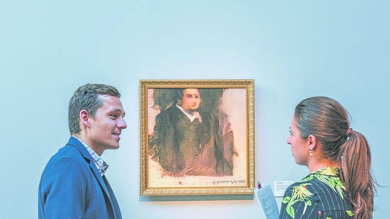 Le «Portrait d'Edmond de Belamy», généré par un système d'IA mis au point par le collectif français Obvious, sera mis aux enchères chez Christie's New York fin octobre.
