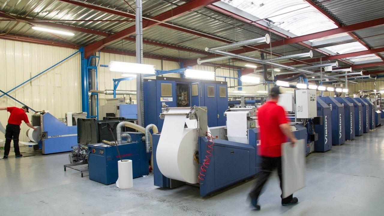 Malengé Packaging transforme 12 millions de mètres carrés de matière par an.