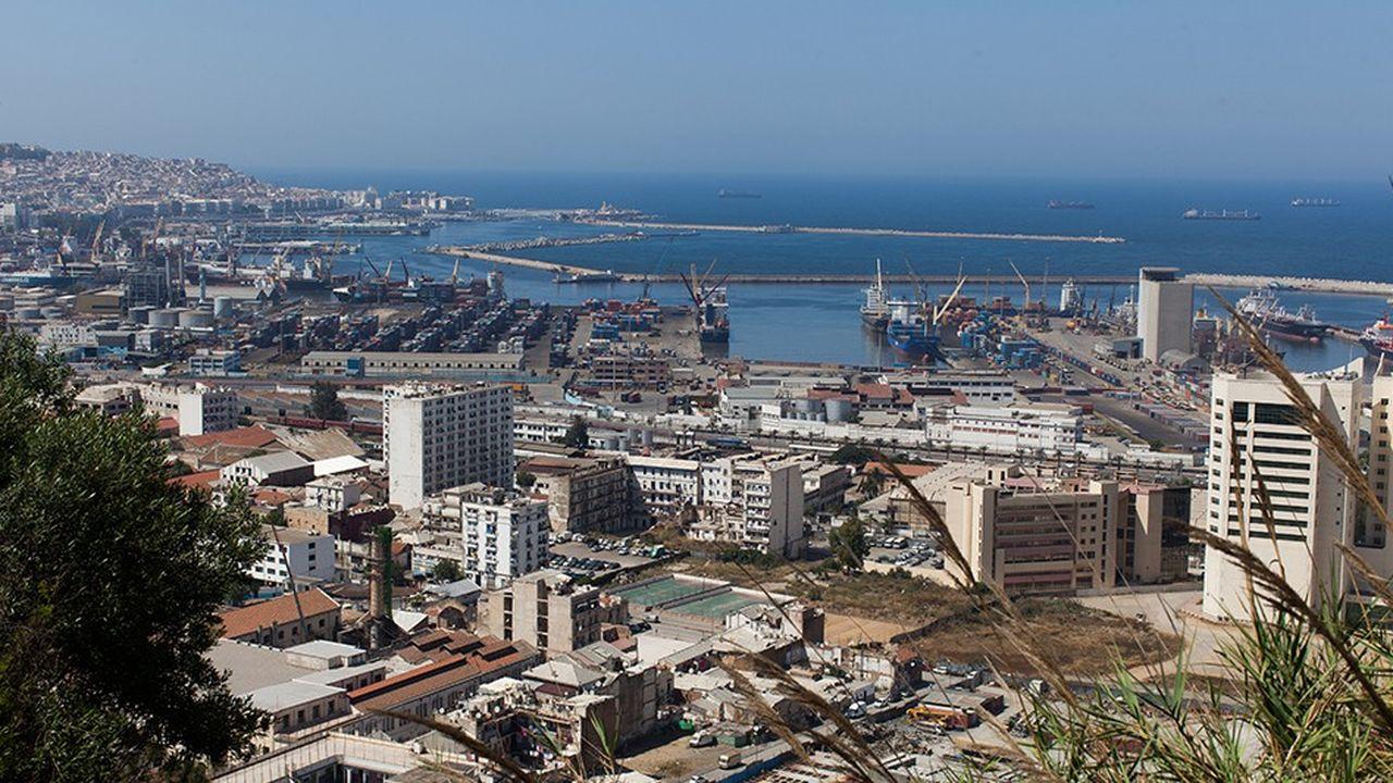 Vue d'Alger, la capitale de l'Algérie.