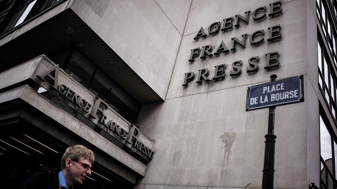 Le siège de l'AFP, place de la Bourse, à Paris.
