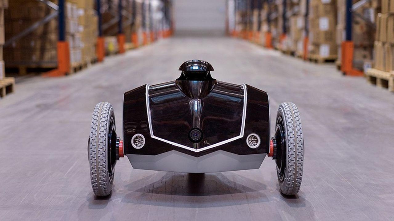 Le robot e-vigilante d'Econobots surveille les sites industriels et les plates-formes logistiques.