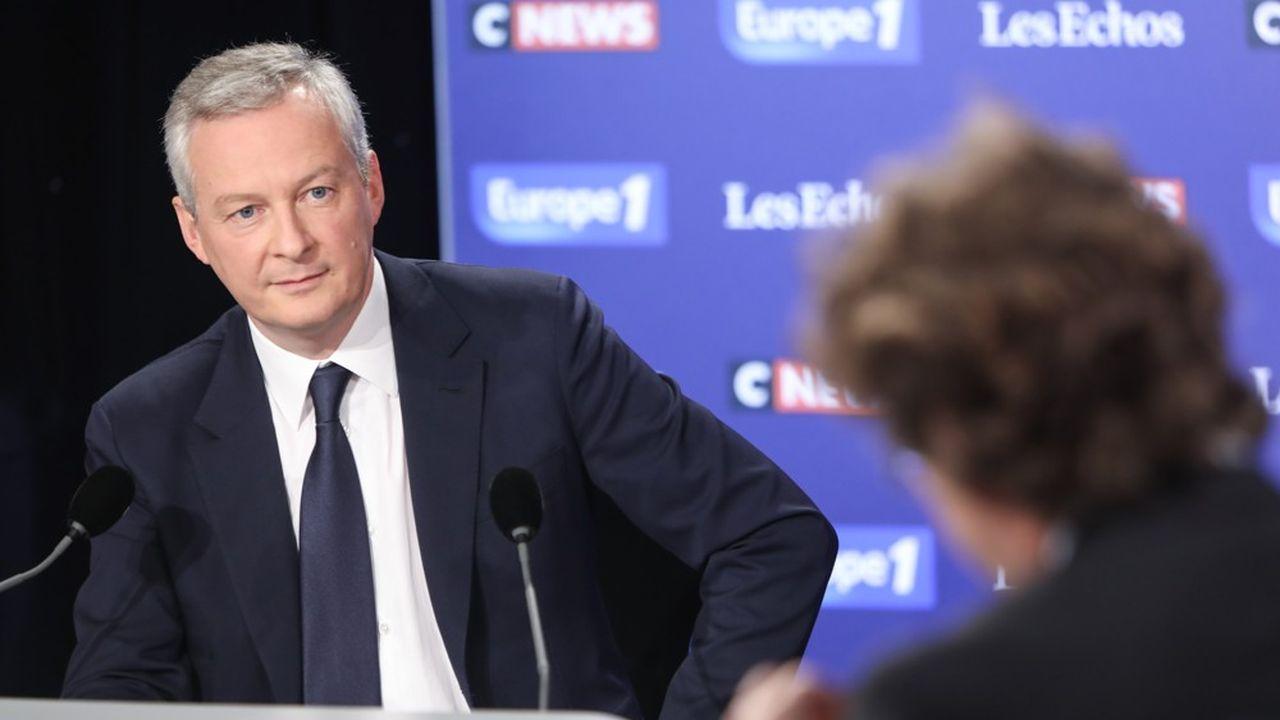 Bruno Le Maire est ministre de l'Economie et des Finances depuis le 17 mai 2017.